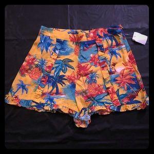 Zara Women's High Waist Ruffle Shorts